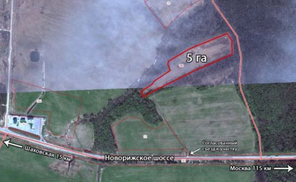 Участок 5 га в окружении леса в Волоколамском районе