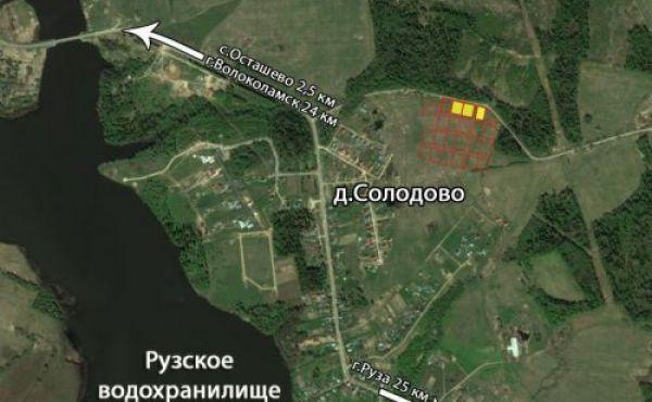 Участок 15 соток в деревне Солодово, до вдхр менее 1 км