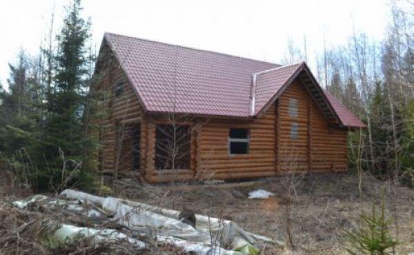 2-х этажный дом из оцилиндрованного бревна в с/п Осташевское