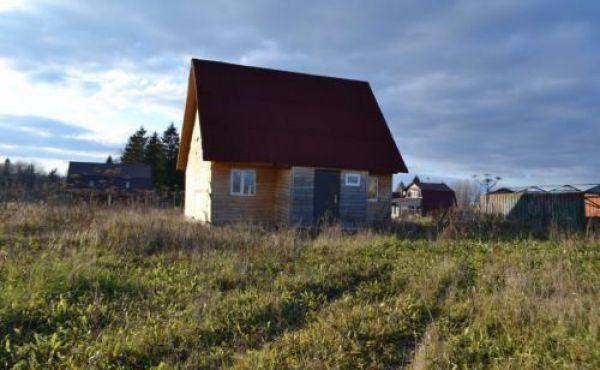 Брусовой дом в деревне Волочаново