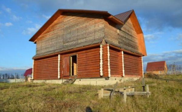 Новый дом из бревен в деревне Волочаново, под отделку!!
