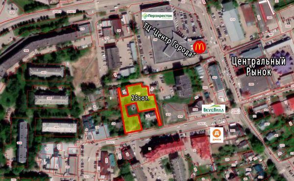 Коммерческий участок 25 соток в центре Волоколамска