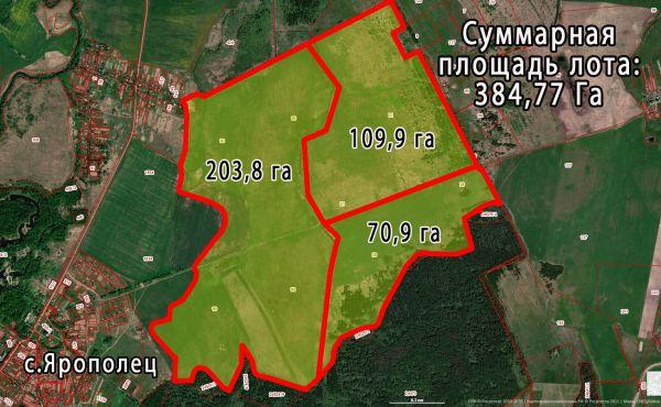 Участок 385га сельхоз назначения в Волоколамском районе